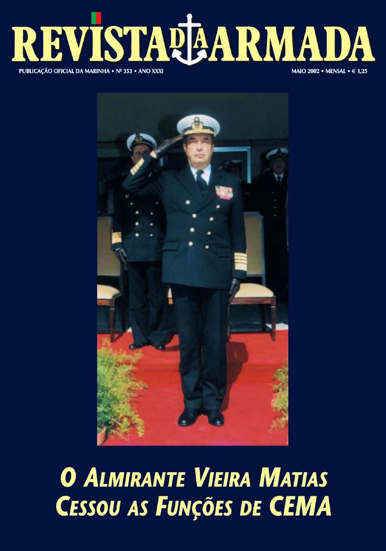 Capa da Revista da Armada de Maio de 2002, por ocasião da despedida da Armada ao Alm. Matias