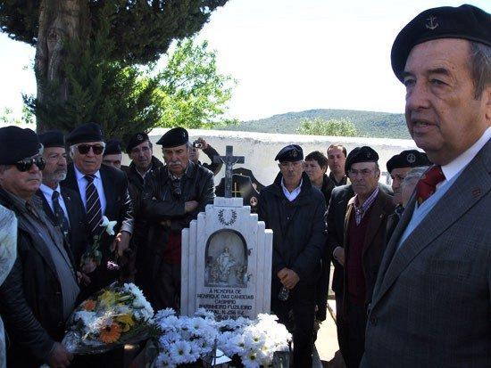 O Alm Vieira Matias, reunia anualmente com os seus homens do Destacamento de Fuzileiros Especiais nº13, com quem combateu na Guiné-Bissau.