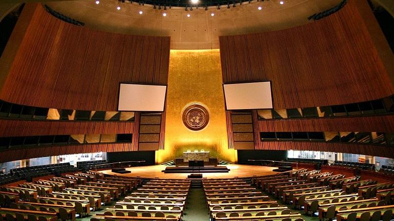 Sala da Assembleia Geral da Organização das Nações Unidas, em Nova Iorque (imagem ONU)