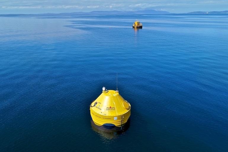 CorPower na Zona de teste EMEC Scapa Flow (Imagem cortesia de Colin Keldie-WES)