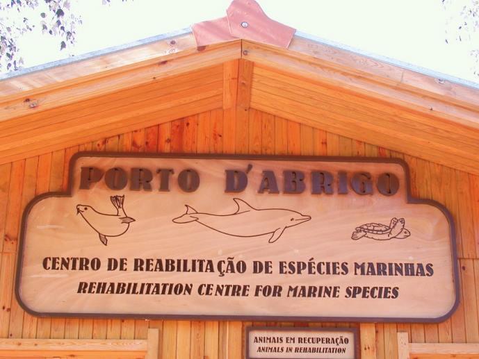 Entrada do edifício principal do Porto d'Abrigo (imagem Zoomarine)
