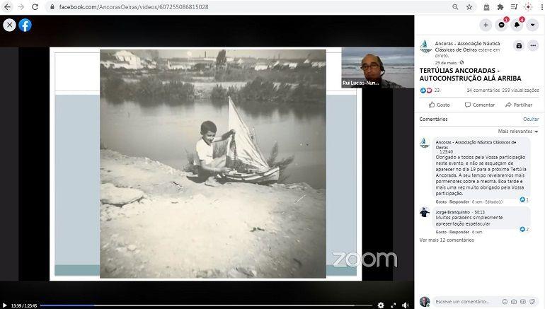 O sonho de infância do Eng. Rui Nunes durante a sua apresentação no Webinar ANCORAS (imagem Associação Âncoras)