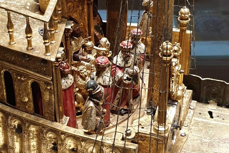 Pormenor das figuras animadas junto ao Castelo da popa (imagem João Gonçalves)