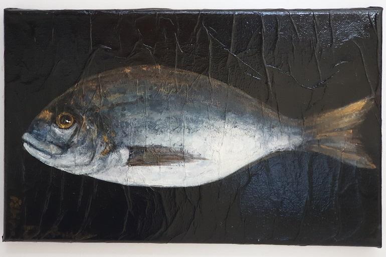 DOURADA, técnica mista sobre tela, 20x30 cm (imagem João Gonçalves)