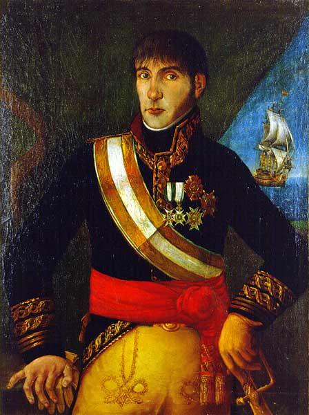 Retrato do tenente-general Baltasar Hidalgo de Cisneros, último vice-rei da Província do Rio da Prata, entre 30 de junho de 1809 - 25 de maio de 1810 (Museo Naval de Madrid)