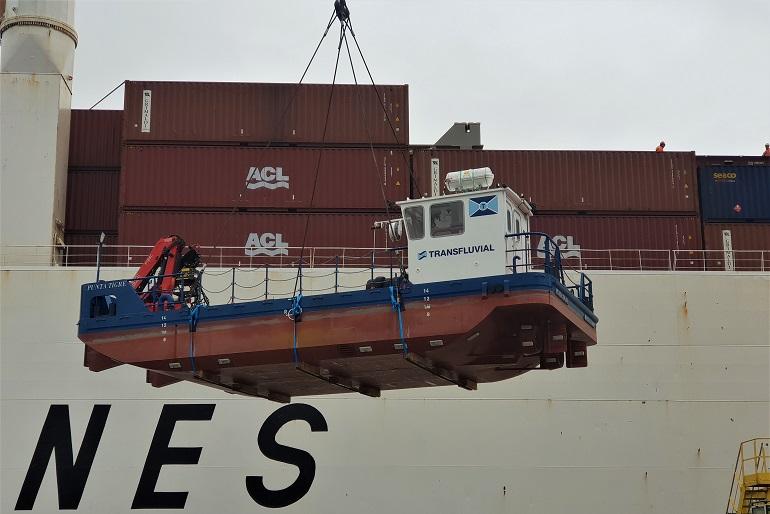 O Punta Tigre embarcou no dia 31 de janeiro de 2019 em Lisboa, rumo ao Uruguai, onde trabalha agora nas operações fluviais da maior fábrica de pasta de papel do mundo.