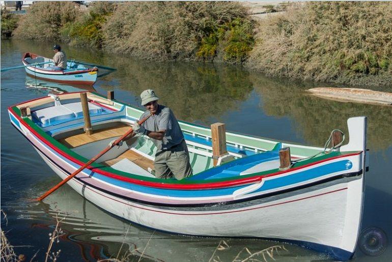 Depois do bota-abaixo, o ÁLA-ARRIBA fez uma viagem técnica à vara, até à oficina do Jaime Costa para receber o mastro e a verga (imagem Eng. Rui Nunes)