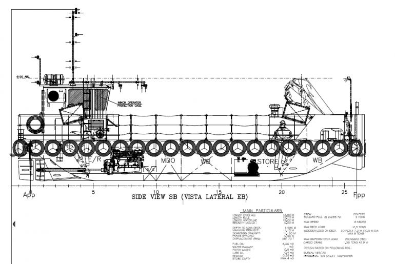 Pormenor do desenho técnico do projeto (imagem Navaltagus)