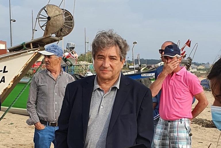 Ricardo Serrão Santos de visita ao Portinho de Pescas de Angeiras (imagem MAR PT)