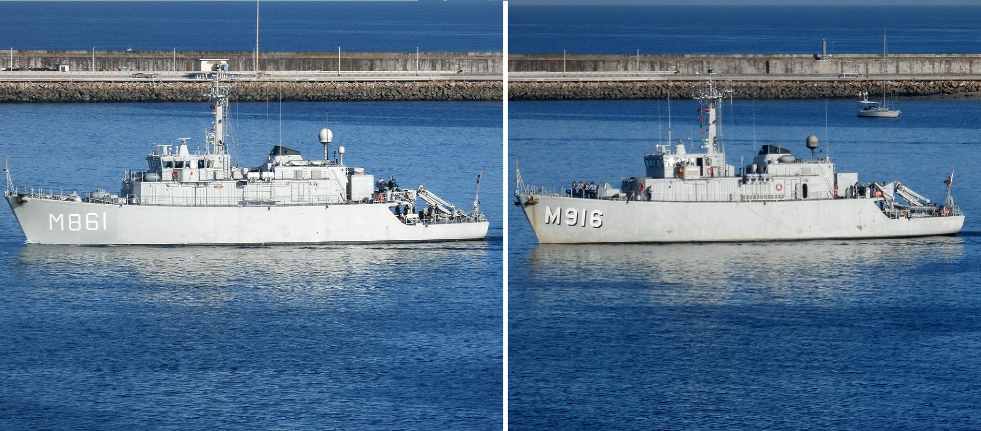 Navios de guerra em Leixões