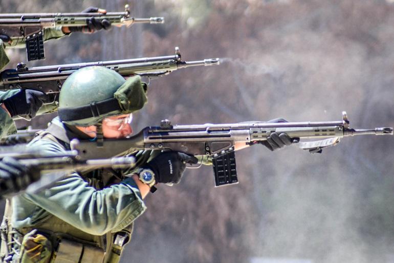 Treino de tiro de combate dos alunos fz's (imagens MGP)