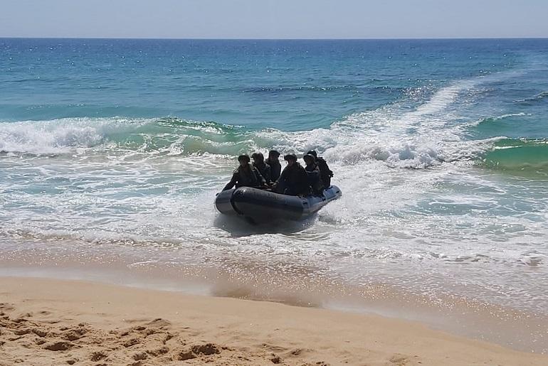Prova de desembarque, durante o exercício Mar Verde (imagem MGP)