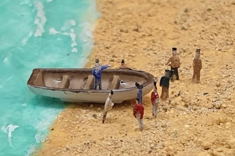 """Uma imagem com lentre Macro, a mostrar o incrível detalhe do diorama """"Far side of the world"""" (imagem João Gonçalves)"""