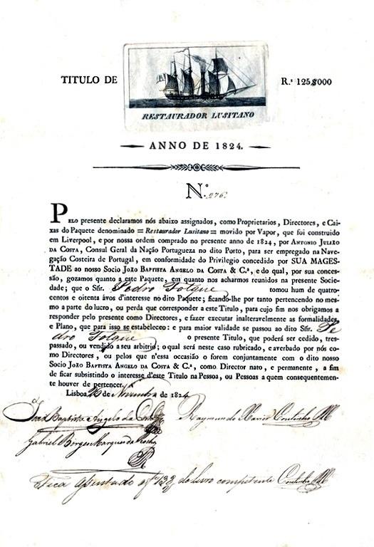 Título de participação em empresa, Leite, José, restosdecolecção.blogspot.com