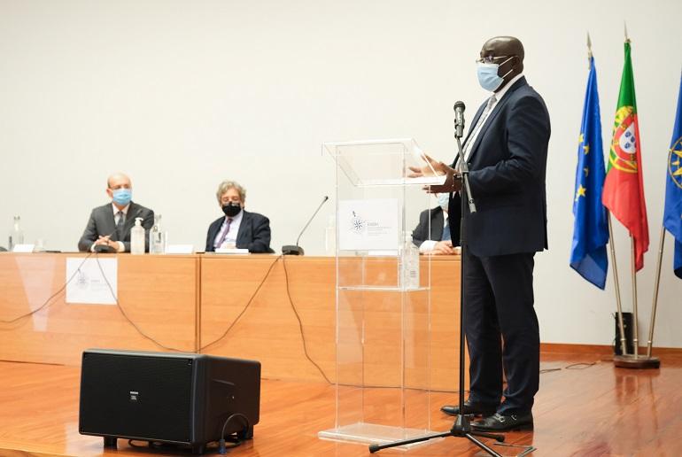 O Dr. Marcellin N'Djonon, Encarregado de Negócios da Costa do Marfim (imagem Carmo Montanha, cedida por GCMunicípio de Oeiras)