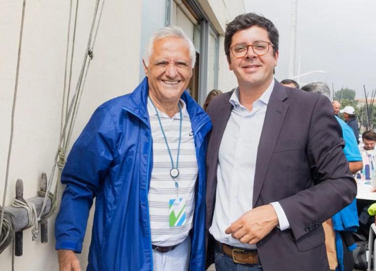 António Roquette e João Paulo Rebelo, respectivamente Presidente da FPV e Secretário de Estado da Juventude e do Desporto