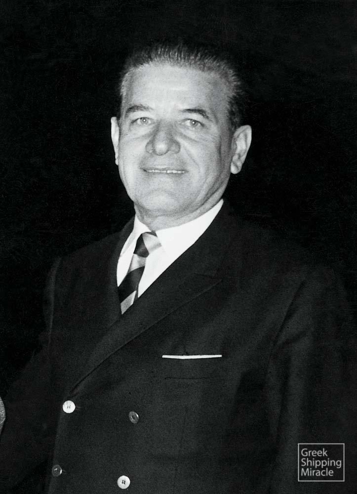 O armador grego Ioannis Spyridon Latsis (John S. Latsis) 1910- 2003