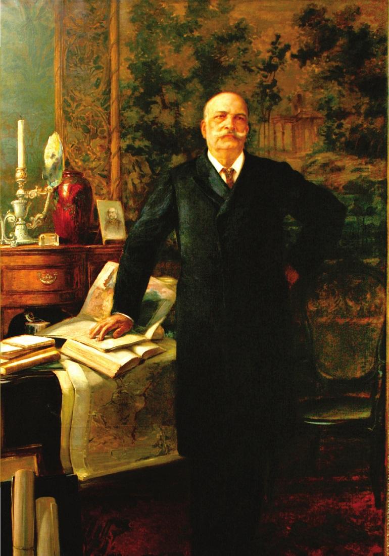 José Maria da Silva Paranhos Júnior, Barão do Rio Branco, Carlos Servi (1871-1947), óleo sobre tela, (Coleção MRE-ERERIO, Itamaraty-Museu Histórico e Diplomático)