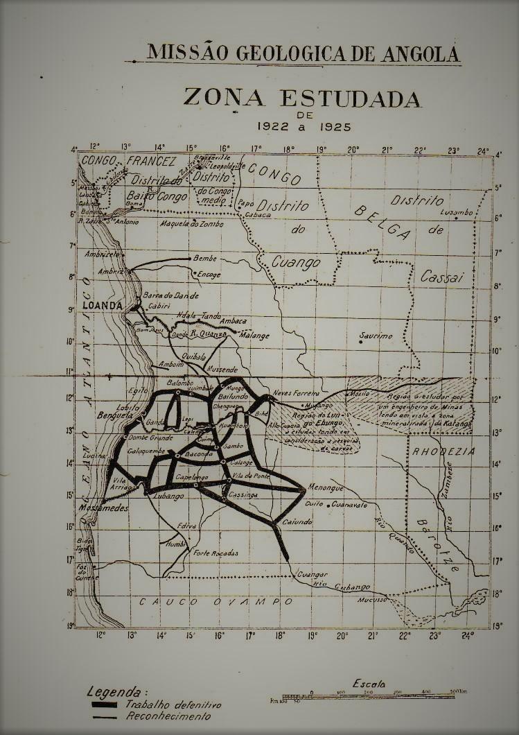 Missão geológica de Angola 1922-1925. Notícia dos trabalhos realizados. (Arquivo do MMG/MNHN-UL)