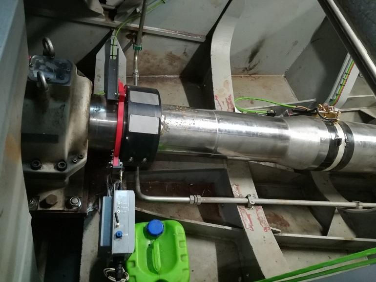 Os sensores OPTIPOWER montados numa linha de veios. (imagem TECNOVERITAS)