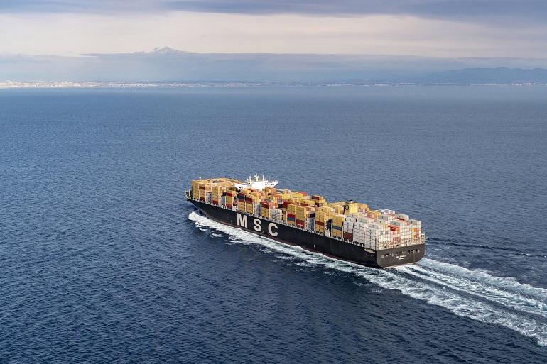 Um porta-contentores da MSC Cargo (imagem MSC)