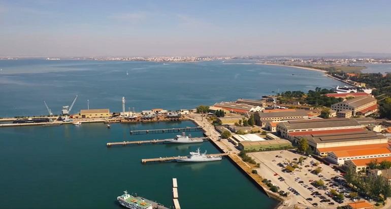 Vista aérea do estaleiro Arsenal do Alfeite (imagem A.A.)