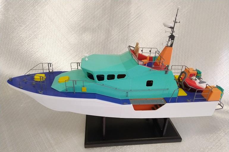 Modelo pormenorizado, impresso à escala 1:25, da Lancha L-150 (imagem do autor)