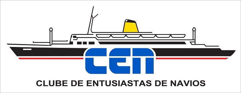 O Logo Clube de Entusiastas de Navios, representa a silhueta do navio FUNCHAL