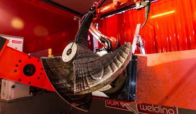 O WAAMpeller, o hélice fabricado com técnica 3D print (imagem Damen Shipyards Group)