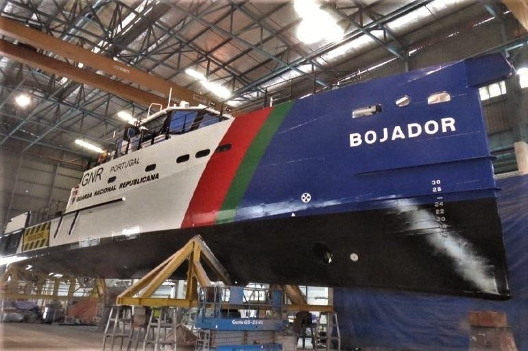 O futuro navio patrulha da Unidade de Controlo Costeiro da GNR, o BOJADOR, é um navio tipo Stan Patrol 3507 dos estaleiros holandeses Damen. (imagem GNR)