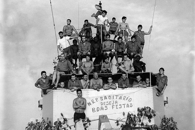 A guarnição posou para fotografia no dia de Natal de 1971 (imagem Adelino Rodrigues da Costa)