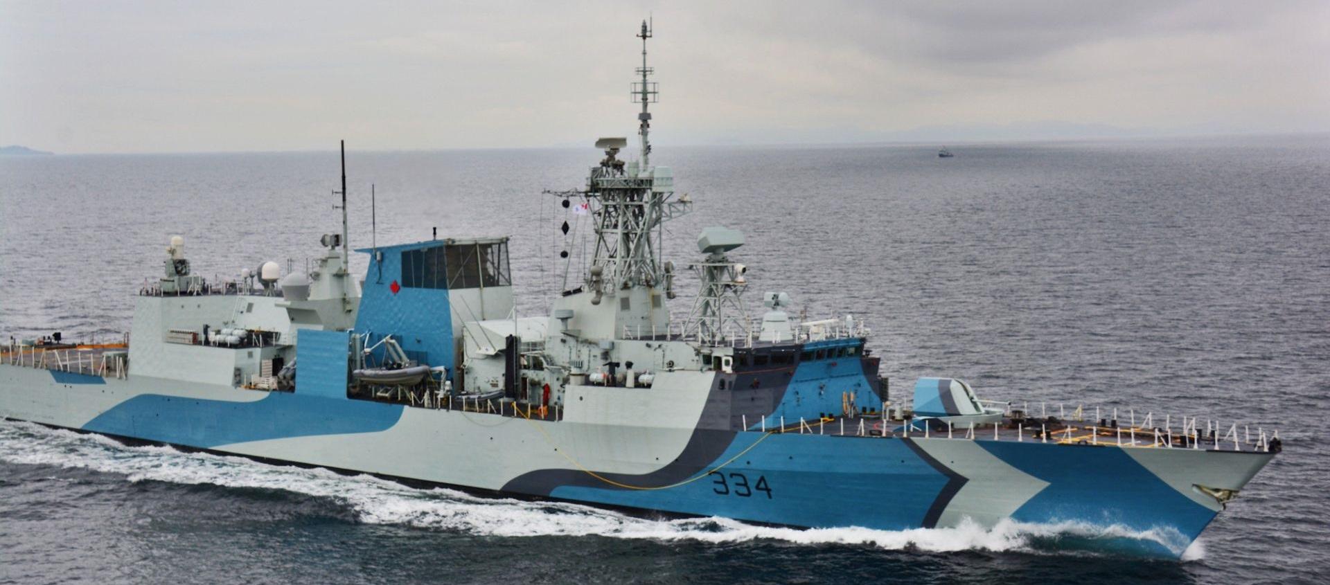 A pintura da fragata HMCS REGINA
