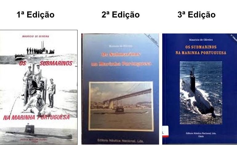 As três capas das edições anteriores (composição Revista de Marinha)