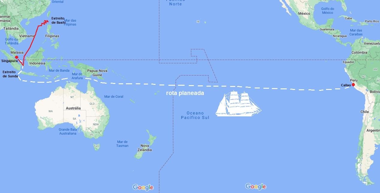 A rota do CRAIGMULLEN (mapa Google)