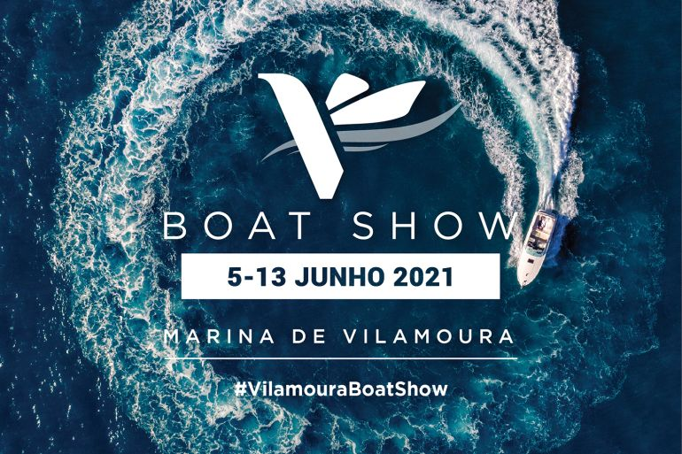 Carta com a imagem de marca do evento (imagem Vilamoura Boat Show)