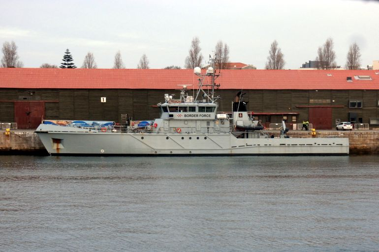 O HMS PROTECTOR (ex-KV TIRA) fotografado em Leixões em março de 2019 (imagem Reinaldo Delgado)