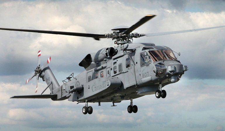 O helicóptero CH-148 Cyclone é a versão naval do Sikorsky S-92, que desde 2019, equipa as Forças Armadas Canadianas - CAF (imagem RCN MRC)
