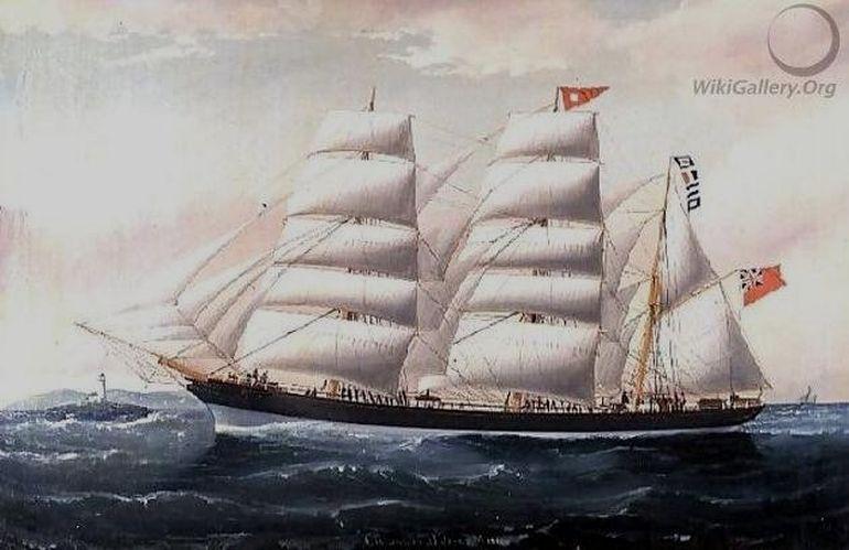 A barca CRAIGMULLEN, pintura de William H. Yorke, 1892 (Cortesia Wikigallery.org)
