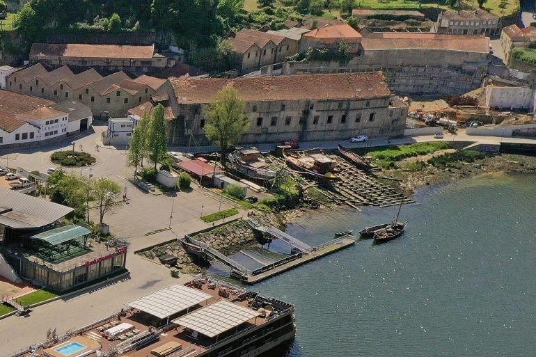 Vista do Estaleiro e do edifício do Convento de Corpus Christi (imagem da CM de VN de Gaia)