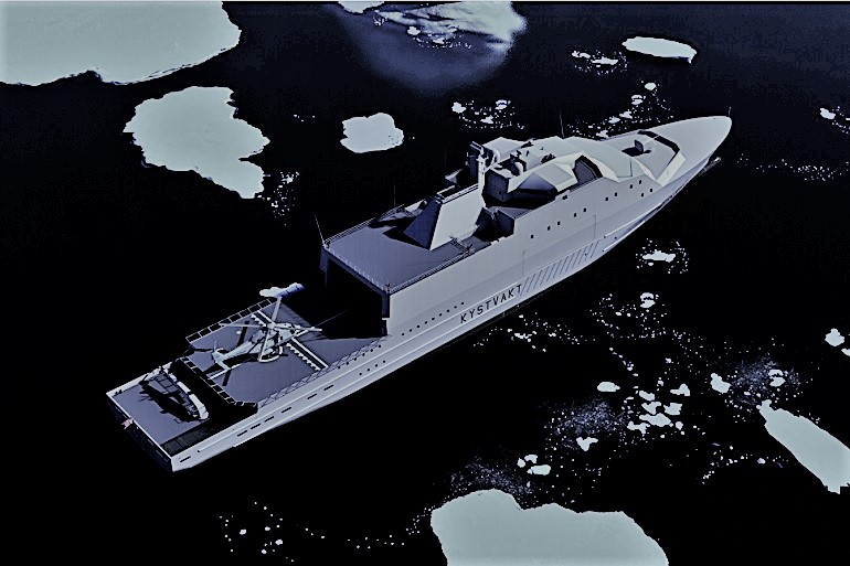 Imagem de CG do novo projeto da classe JAN MAYEN (imagem Forsvaret)
