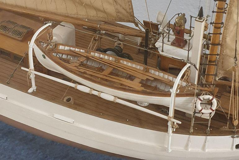 NRP ALBACORA, pormenor da zona de ré do modelo em exposição no Museu de Marinha de Lisboa (imagem João Gonçalves)