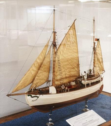 Modelo do NRP ALBACORA em exposição no Museu de Marinha de Lisboa (imagem João Gonçalves)