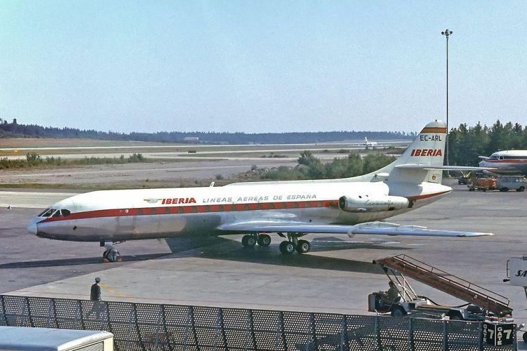 Um Sud Aviation SE-210 Caravelle da IBERIA, muito semelhante ao EC-BID que se perdeu no dia 5 de março de 1973 (imagem Lars Söderström via wkimedia)