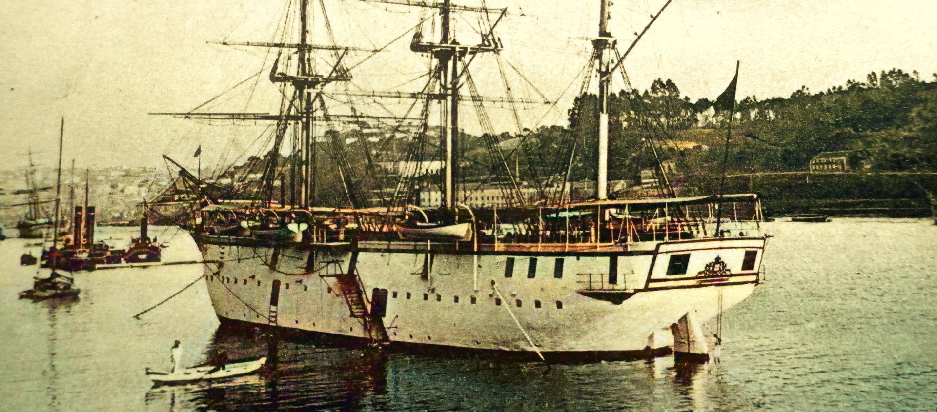 A corveta ESTEPHANIA chegou ao Douro