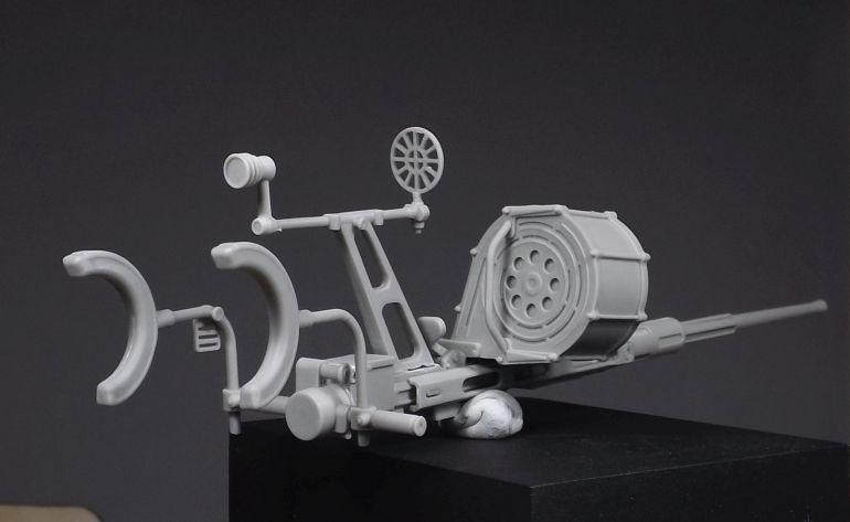 O modelo da Oerlikon pronto para a pintura (imagem Vitalino Chitas)
