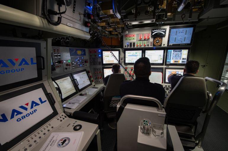 O ambiente do futuro PERLE será semelhante ao dum SNA classe SUFFREN, aqui reconstituído no simulador NEPTUNE. (imagem Naval Group)