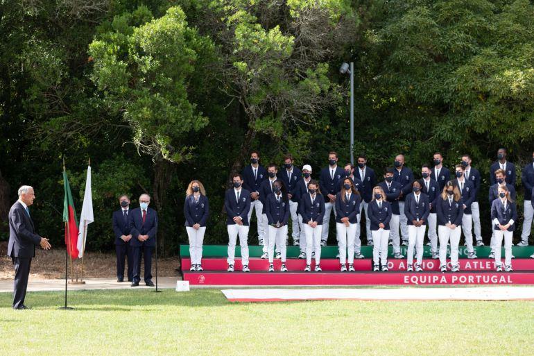 A equipa olímpica de Portugal na despedida ao Presidente da República (imagem Presidência da República)