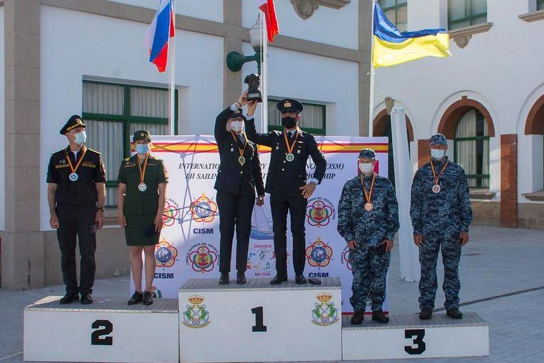 Na cerimónia de encerramento subiram ao pódio as equipas italiana (vencedora), russa (2ª classificada) e ucraniana (3ª classificada) (imagem MDN)