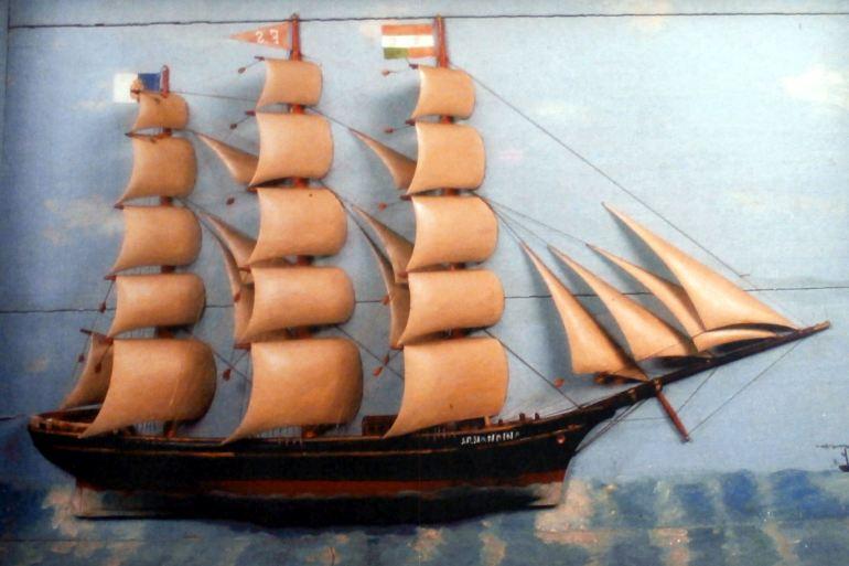 Ex-voto da barca ARMANDINA (imagem Reinaldo Delgado)