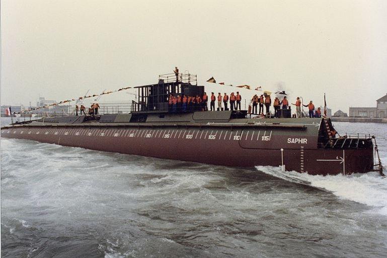 Foi no dia 1 de setembro de 1981 que o SNA SAPHIR foi lançado à água nos estaleiros da DCAN, em Cherbourg (imagem DCAN)